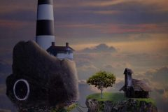 Chris Whaley  -   Lighthouse in the Clouds   -    Digital Rendering